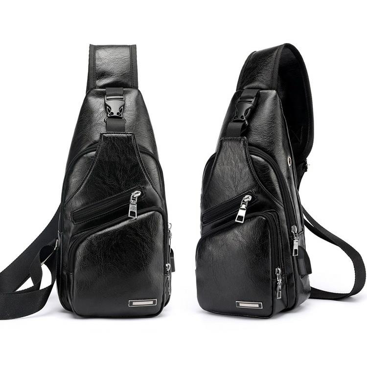Tas Waist Bag Pria Branded Warna Hitam GB158 - Grosiran Batam