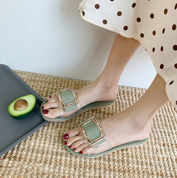 Sandal Wanita Warna Hijau Model Terbaru 2020 - Grosiran Batam