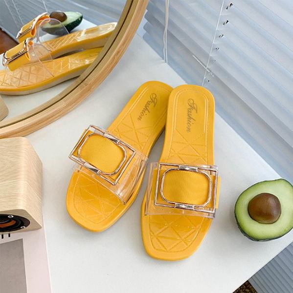Sandal Wanita Warna Kuning Model Terbaru 2020 - Grosiran Batam