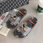 Sandal Wanita Branded Warna Hitam Dengan Motif Mickey Mouse