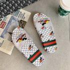 Sandal Wanita Branded Warna Putih Dengan Motif Mickey Mouse