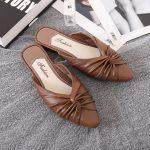 Sandal Fashion Wanita Warna Coklat Model Terkini